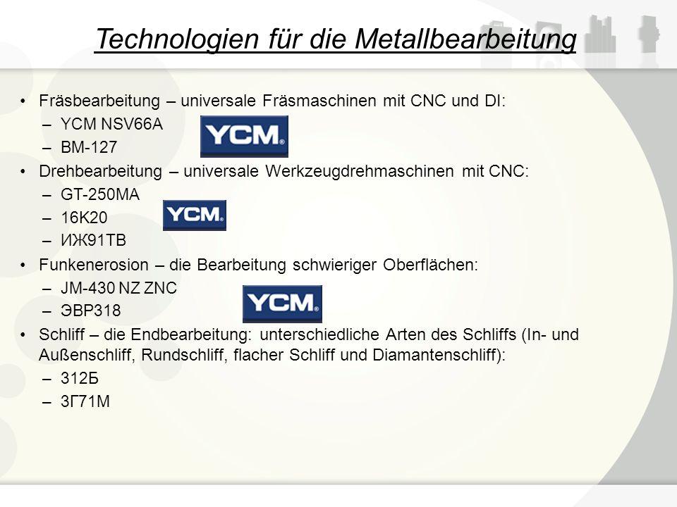 Technologien für die Metallbearbeitung