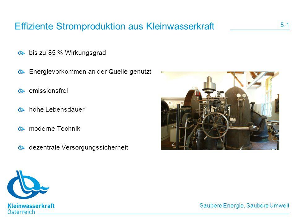 Effiziente Stromproduktion aus Kleinwasserkraft