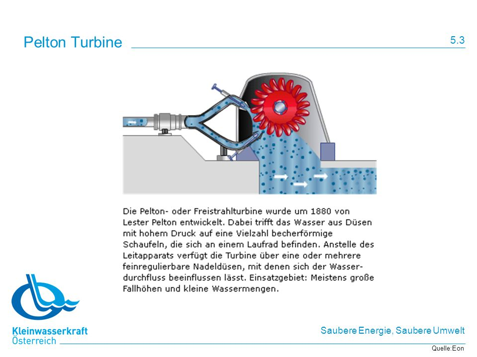 Pelton Turbine 5.3 Quelle:Eon