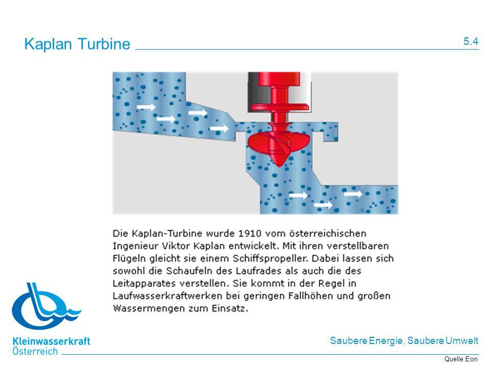 Kaplan Turbine 5.4 Quelle:Eon