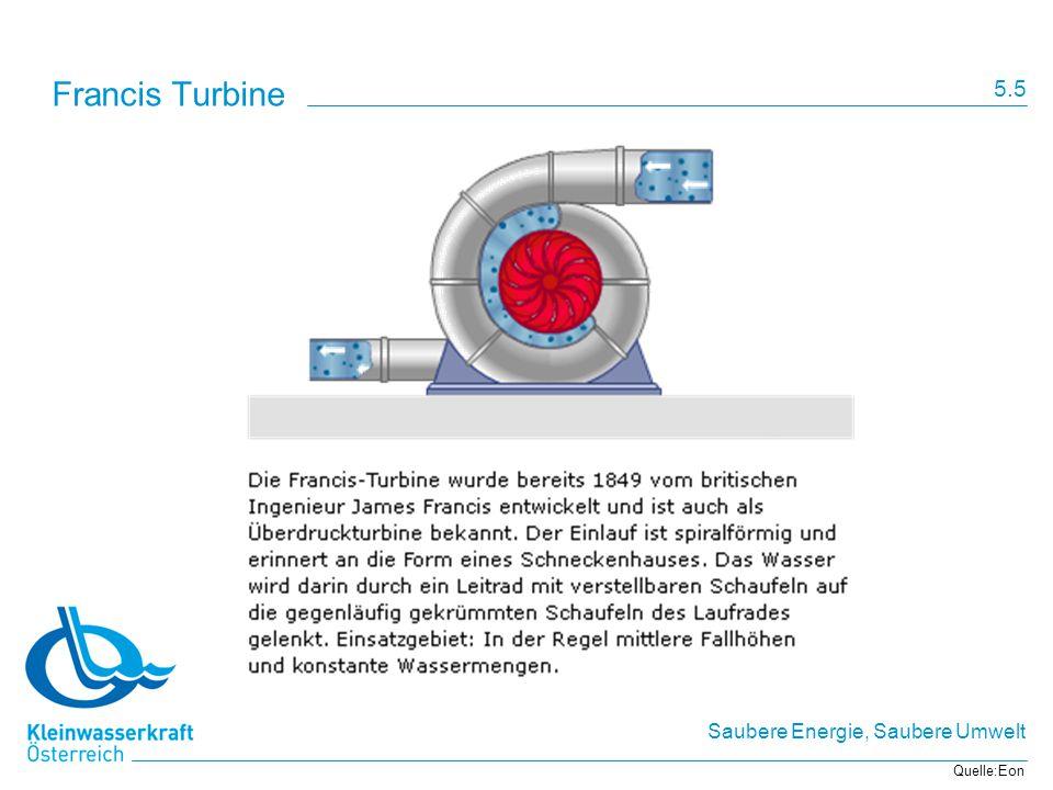 Francis Turbine 5.5 Quelle:Eon
