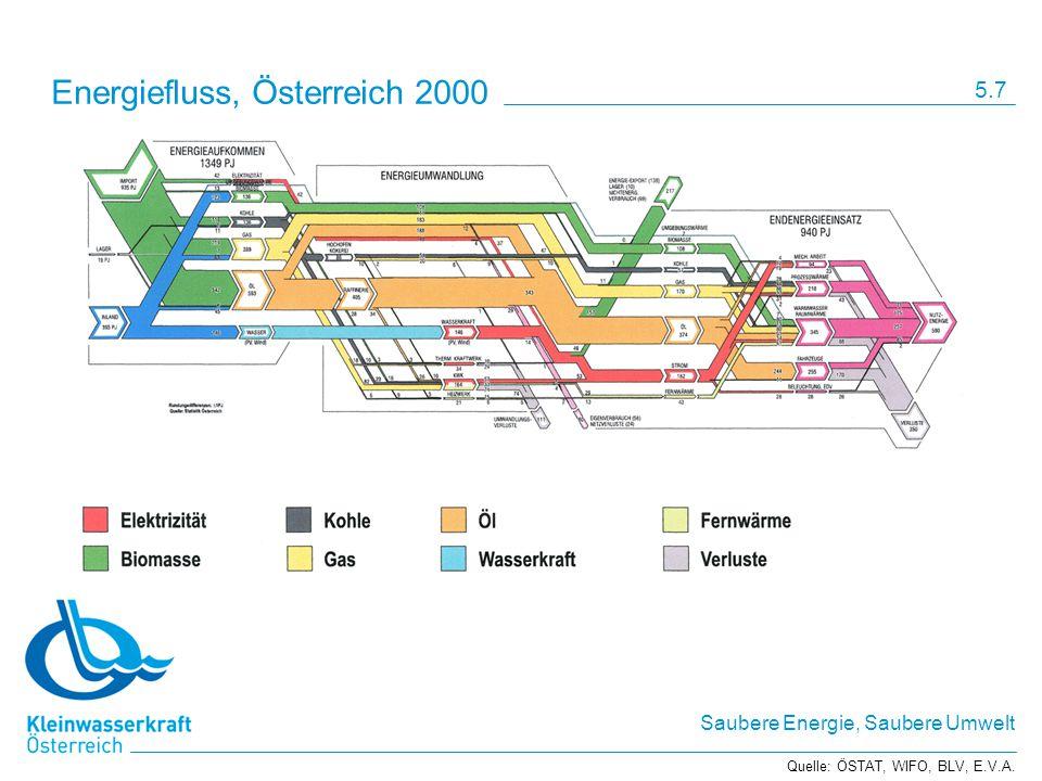 Energiefluss, Österreich 2000