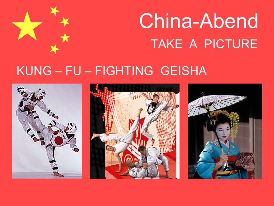 TAKE A PICTURE KUNG – FU – FIGHTING GEISHA