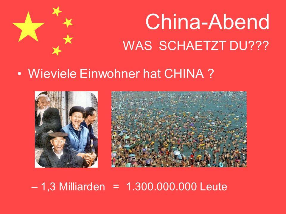 Wieviele Einwohner hat CHINA