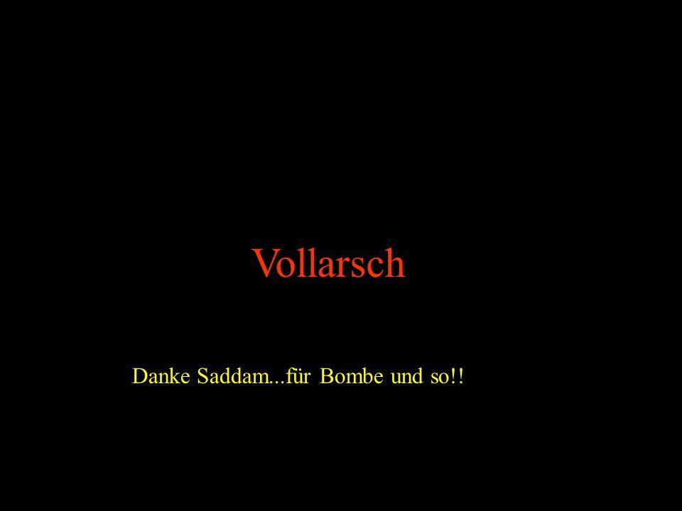 Vollarsch Danke Saddam...für Bombe und so!!