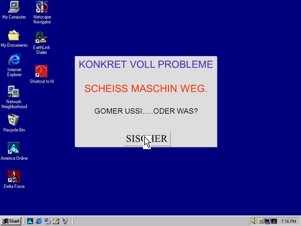 KONKRET VOLL PROBLEME SCHEISS MASCHIN WEG. SISCHER