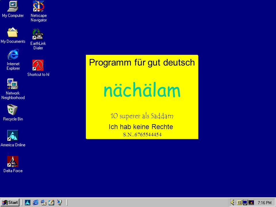 Programm für gut deutsch