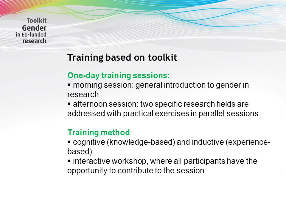 Training based on toolkit