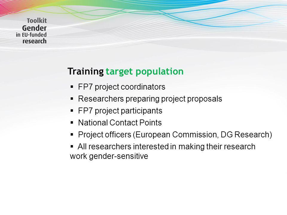 Training target population