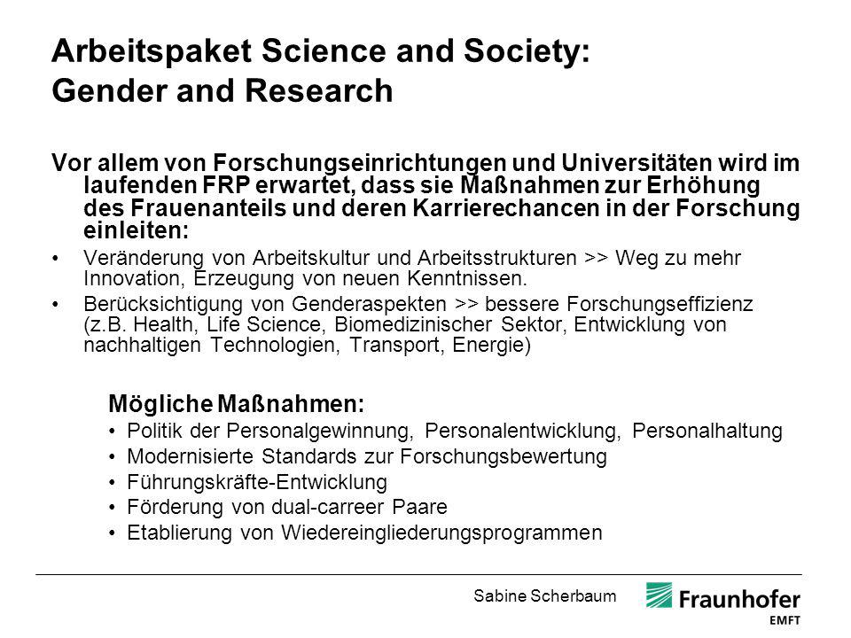 Arbeitspaket Science and Society: Gender and Research