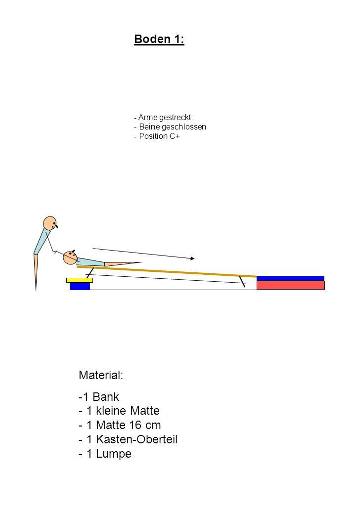 1 Bank - 1 kleine Matte - 1 Matte 16 cm - 1 Kasten-Oberteil - 1 Lumpe
