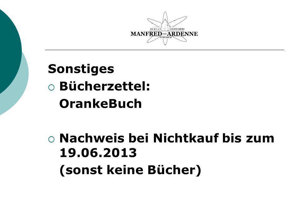 Sonstiges Bücherzettel: OrankeBuch Nachweis bei Nichtkauf bis zum 19.06.2013 (sonst keine Bücher)