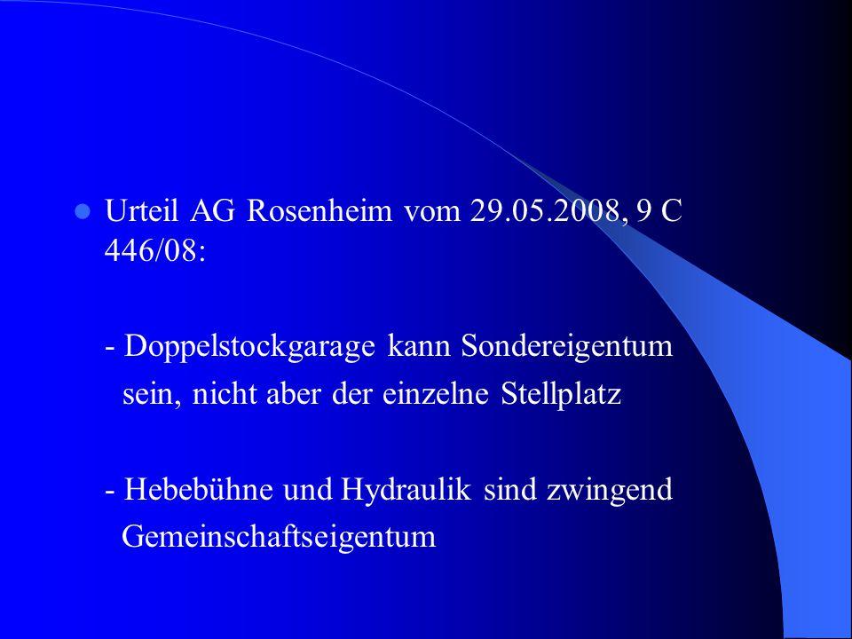Urteil AG Rosenheim vom 29.05.2008, 9 C 446/08: