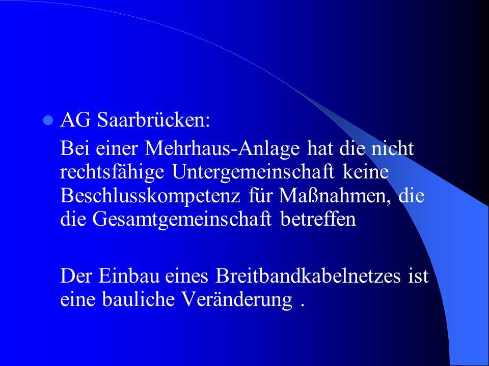 AG Saarbrücken: