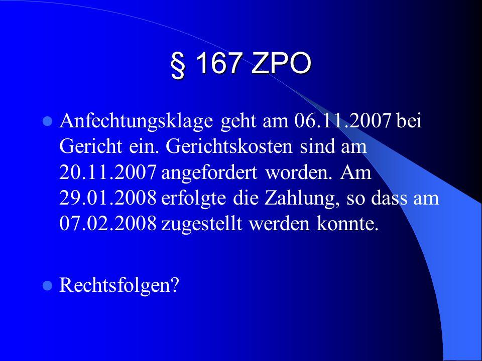 § 167 ZPO