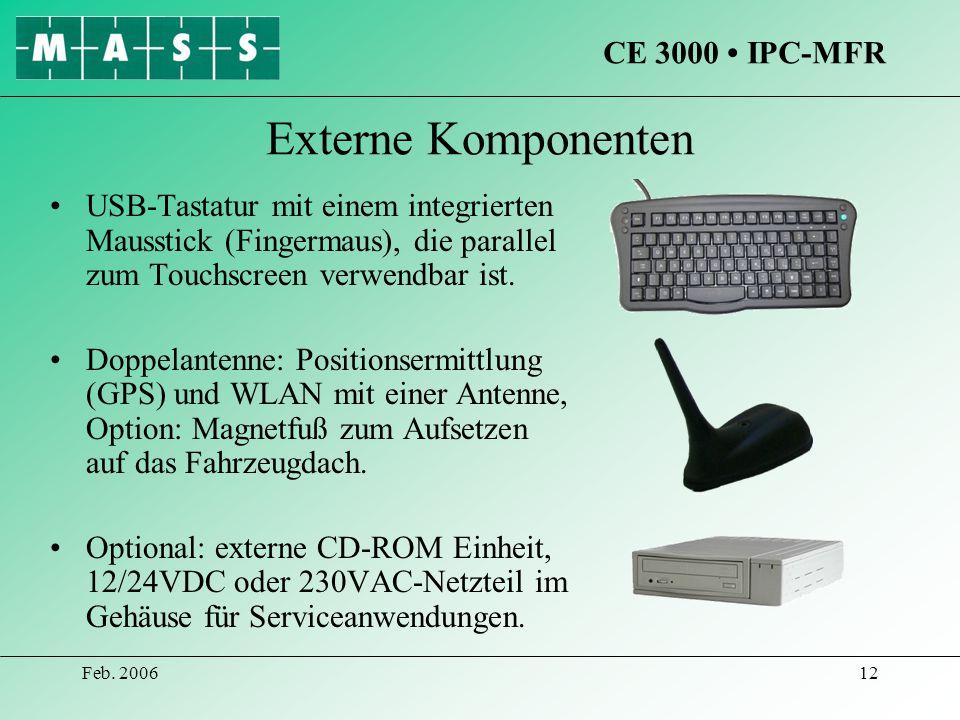 Externe Komponenten CE 3000 • IPC-MFR