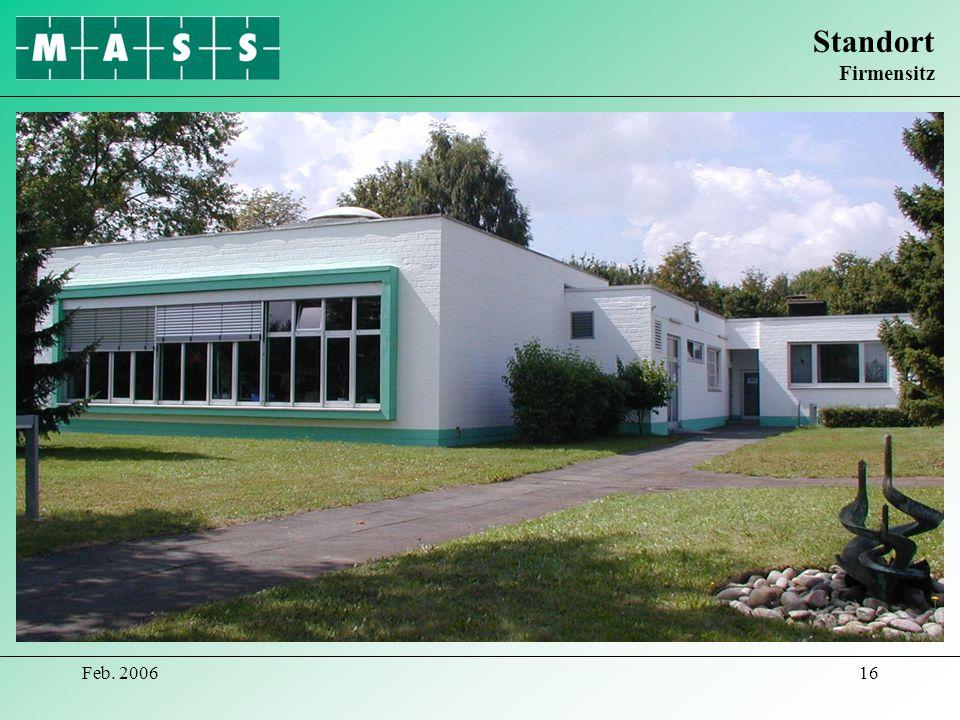 Standort Firmensitz Feb. 2006
