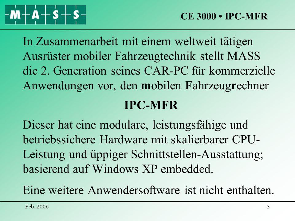 CE 3000 • IPC-MFR