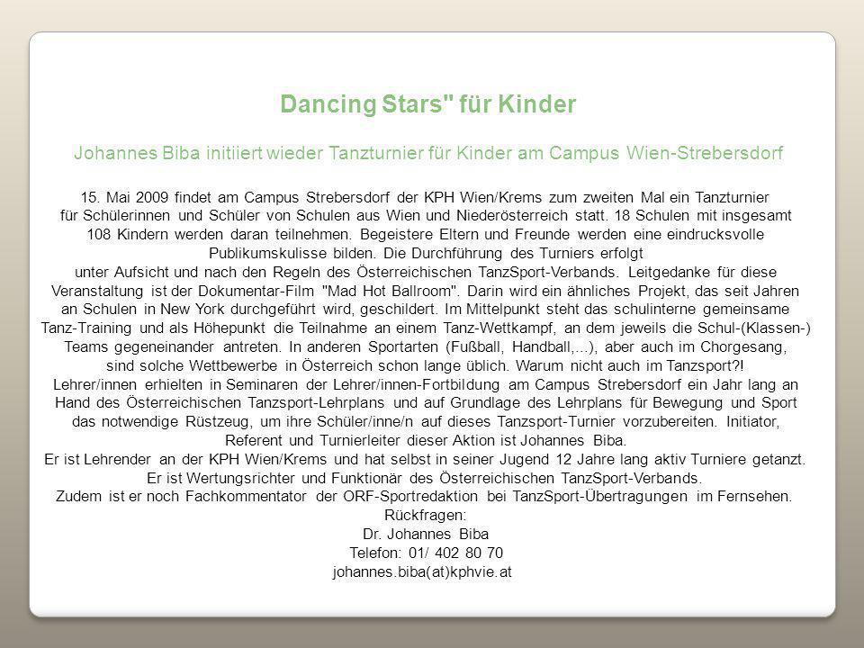 Dancing Stars für Kinder