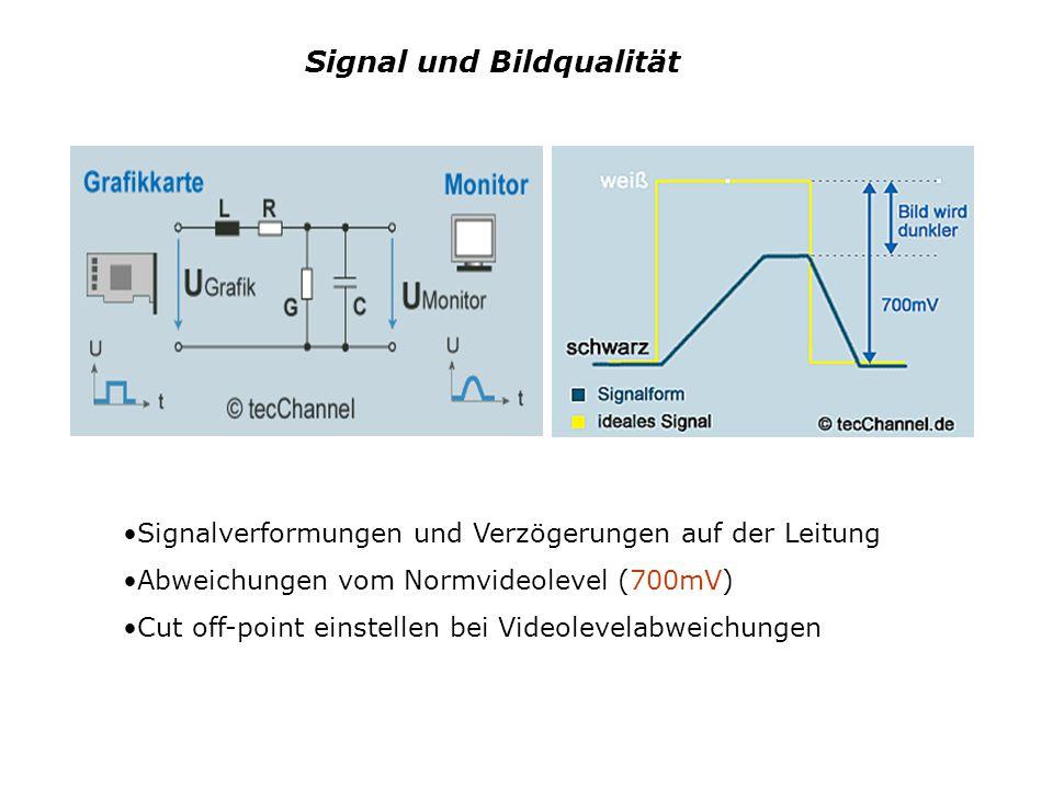Signal und Bildqualität