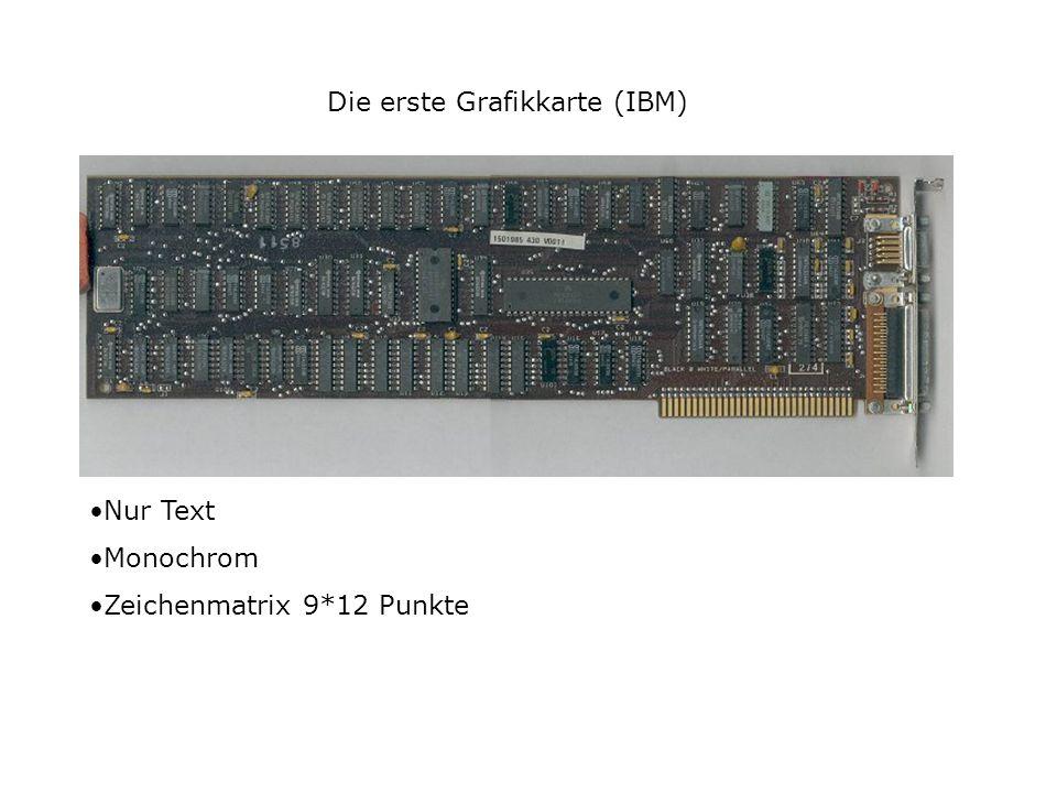 Die erste Grafikkarte (IBM)