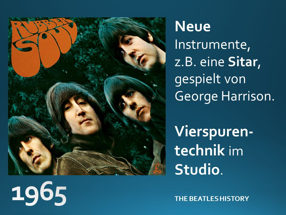 1965 Neue Instrumente, Vierspuren-technik im Studio.