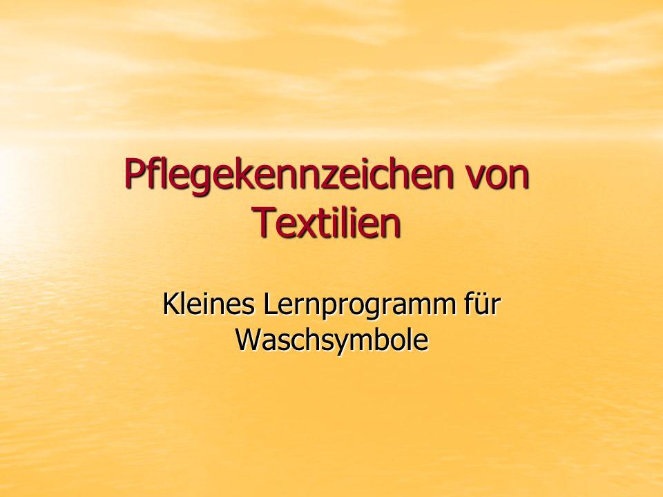 Pflegekennzeichen von Textilien