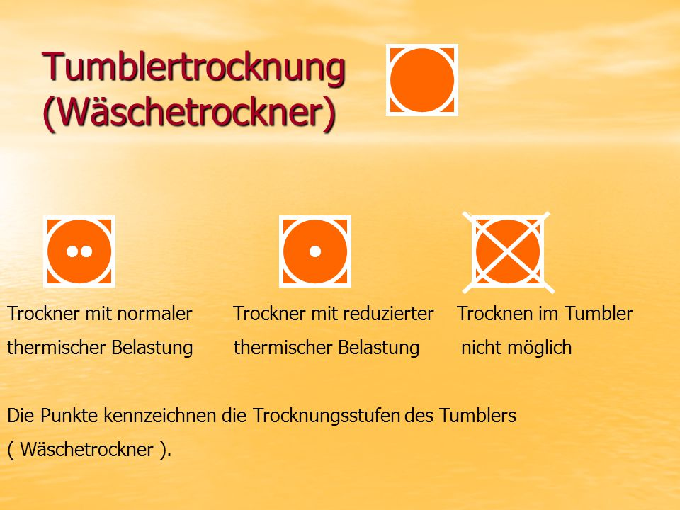Tumblertrocknung (Wäschetrockner)