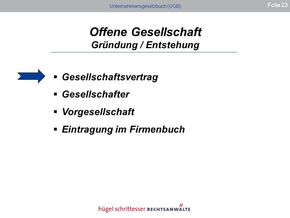Offene Gesellschaft Gründung / Entstehung