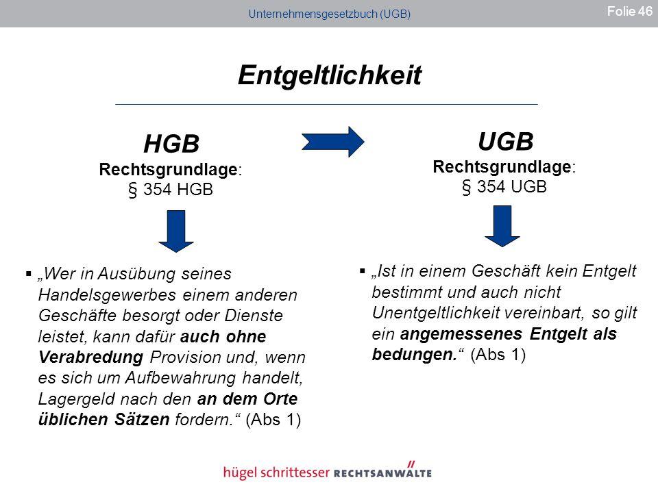 Unternehmensgesetzbuch (UGB)
