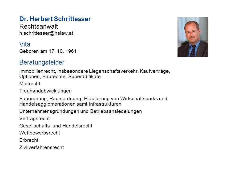 Dr. Herbert Schrittesser Rechtsanwalt