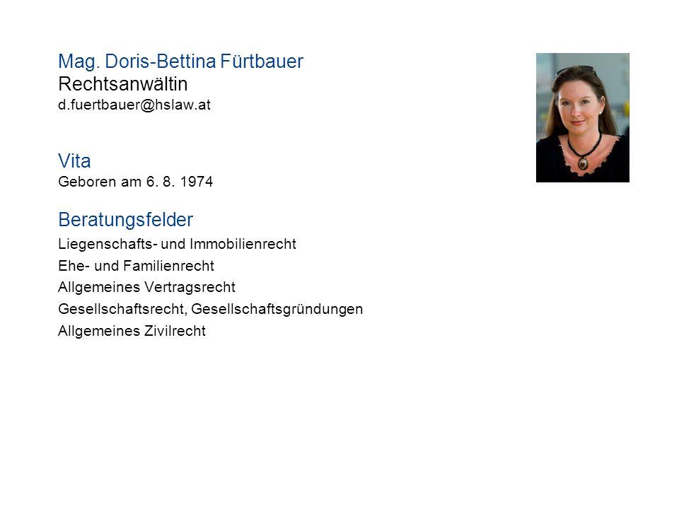 Mag. Doris-Bettina Fürtbauer Rechtsanwältin
