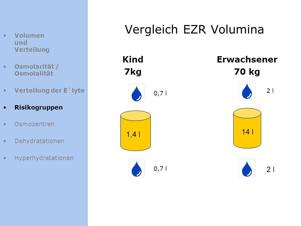 Vergleich EZR Volumina