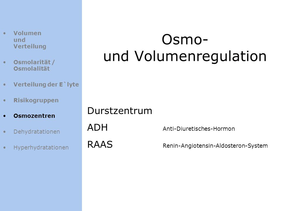 Osmo- und Volumenregulation
