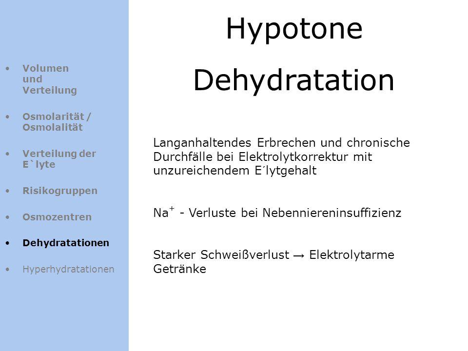 Hypotone Dehydratation