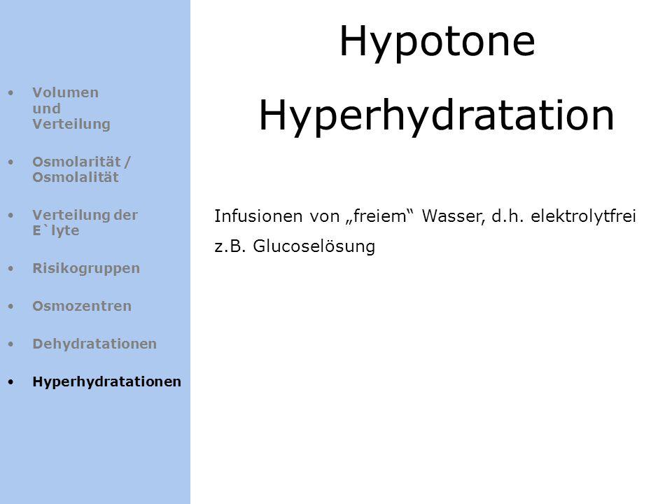 Hypotone Hyperhydratation
