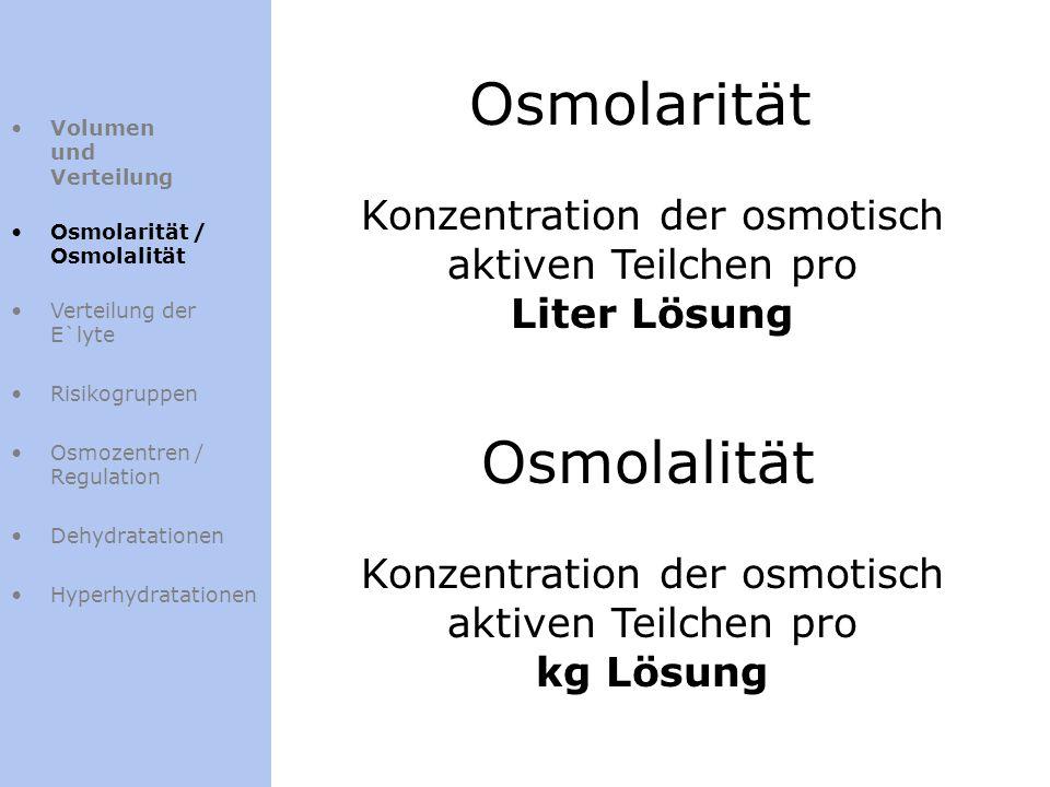 Osmolarität Osmolalität