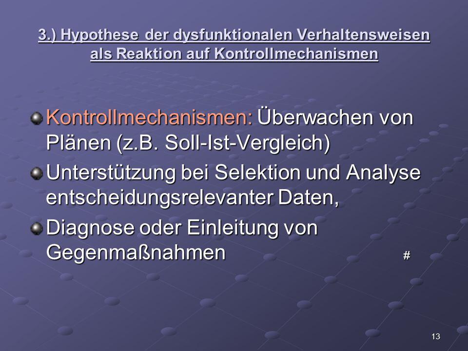 Kontrollmechanismen: Überwachen von Plänen (z.B. Soll-Ist-Vergleich)