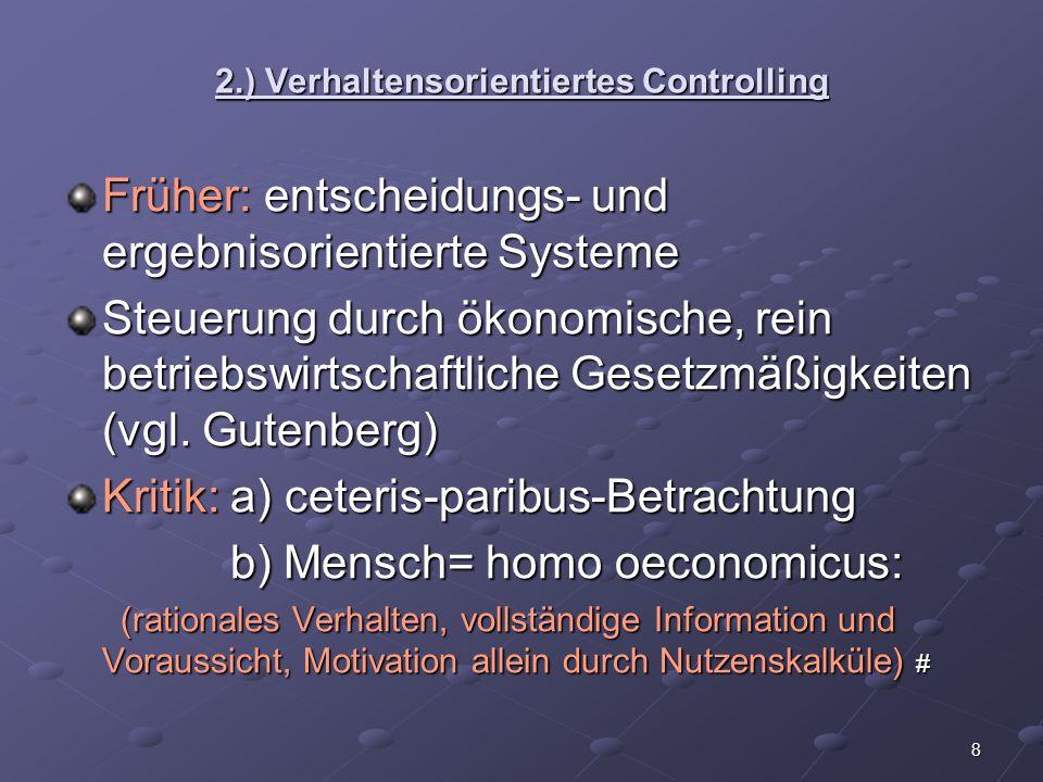 2.) Verhaltensorientiertes Controlling