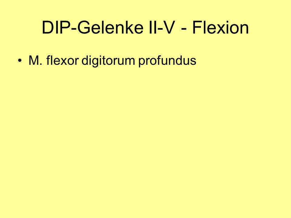 DIP-Gelenke II-V - Flexion