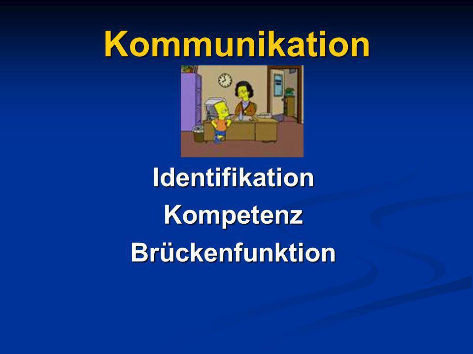 Kommunikation Identifikation Kompetenz Brückenfunktion