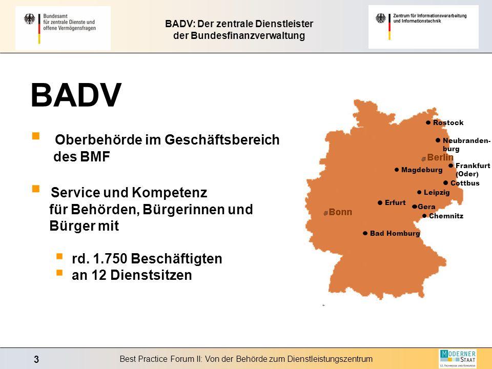 BADV: Der zentrale Dienstleister der Bundesfinanzverwaltung