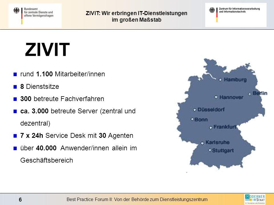 ZIVIT: Wir erbringen IT-Dienstleistungen im großen Maßstab