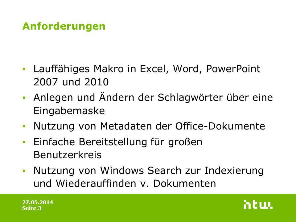 Lauffähiges Makro in Excel, Word, PowerPoint 2007 und 2010