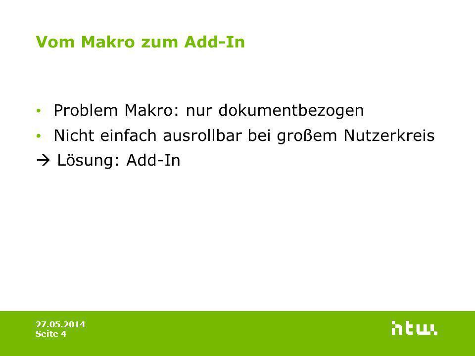 Problem Makro: nur dokumentbezogen
