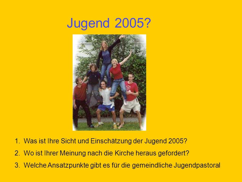 Jugend 2005 Was ist Ihre Sicht und Einschätzung der Jugend 2005