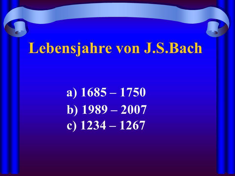 Lebensjahre von J.S.Bach