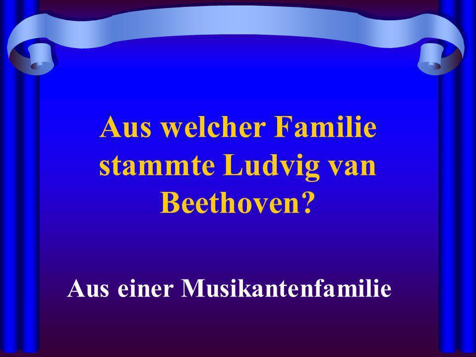 Aus welcher Familie stammte Ludvig van Beethoven