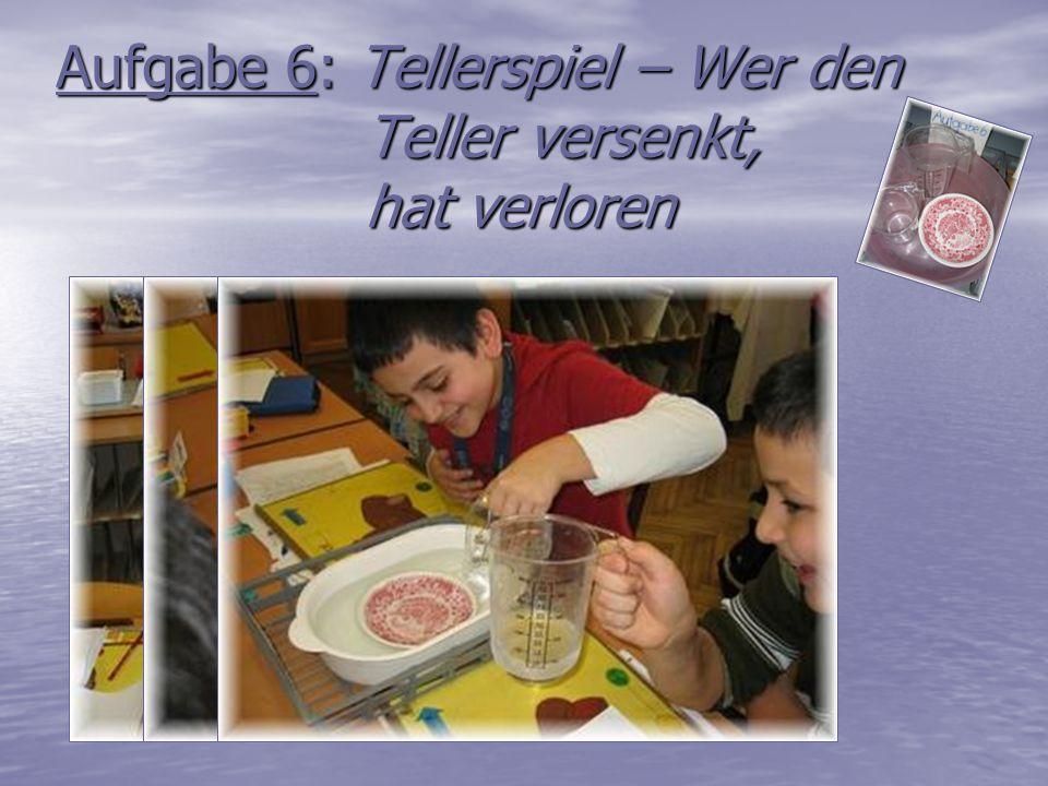 Aufgabe 6: Tellerspiel – Wer den Teller versenkt, hat verloren