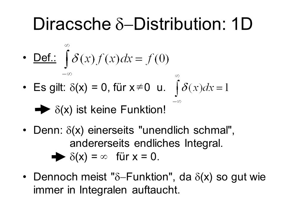 Diracsche d-Distribution: 1D
